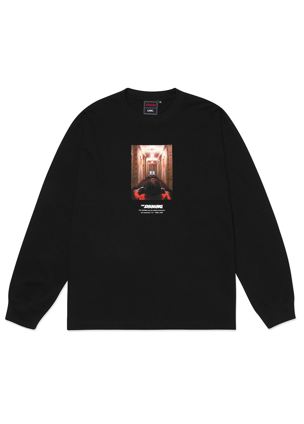 LMC│THE SHINING HALLWAY PHOTO LONG SLV TEE black