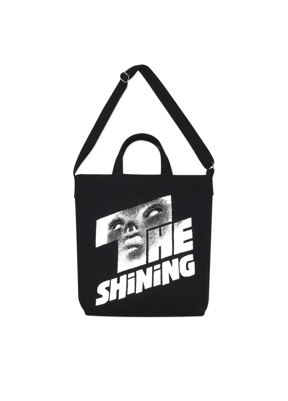 LMC│THE SHINING FACE TOTE BAG black