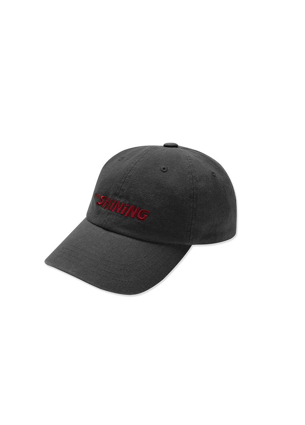 LMC│THE SHINING BASIC WASHED 6 PANEL CAP charcoal