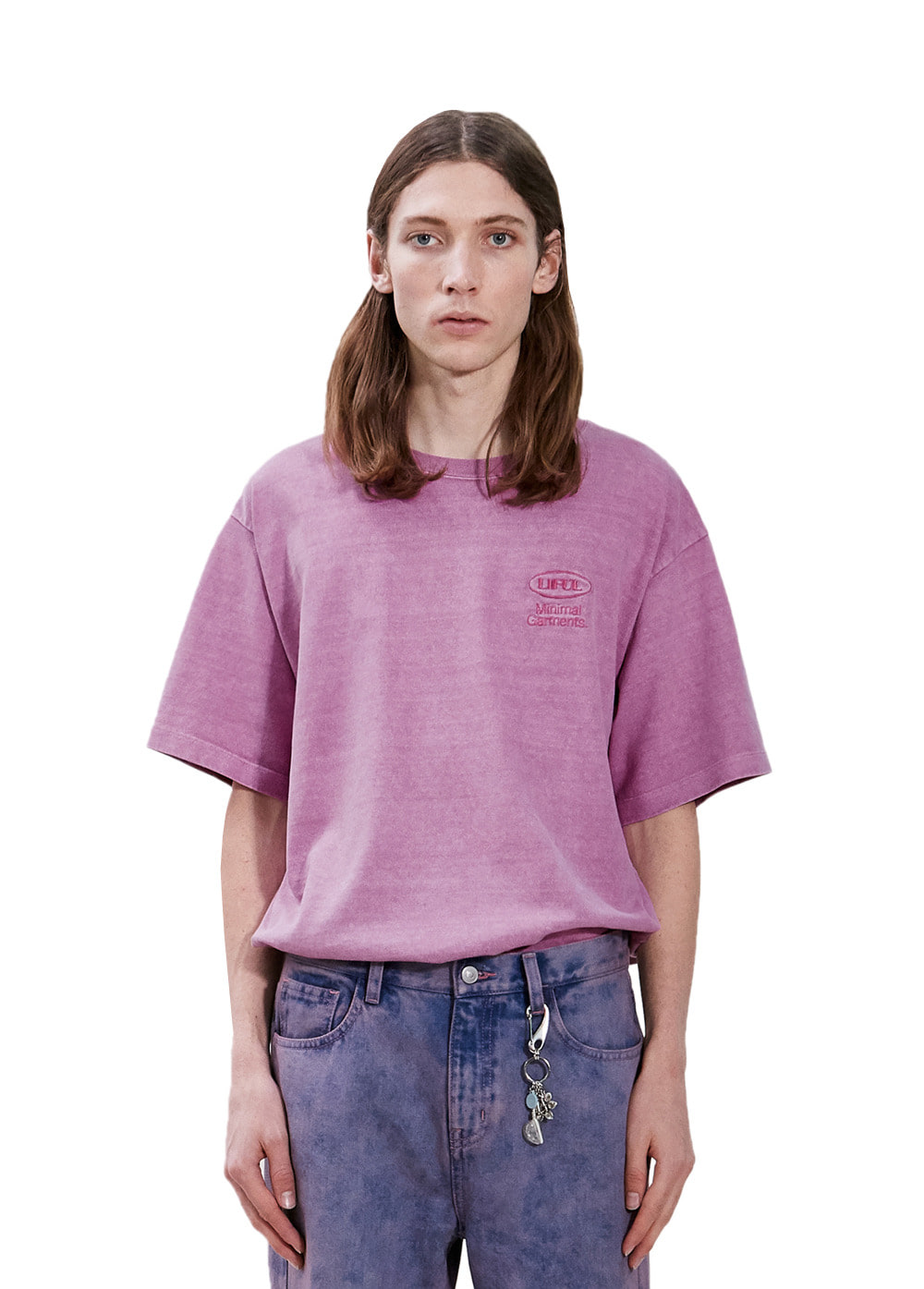 P-DYED OVAL LOGO TEE pink
