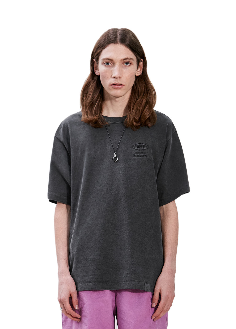 P-DYED OVAL LOGO TEE black