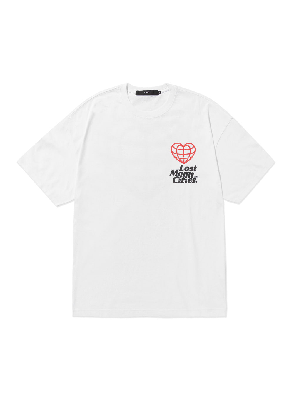LMC HEART GLOBE OVERSIZED TEE white
