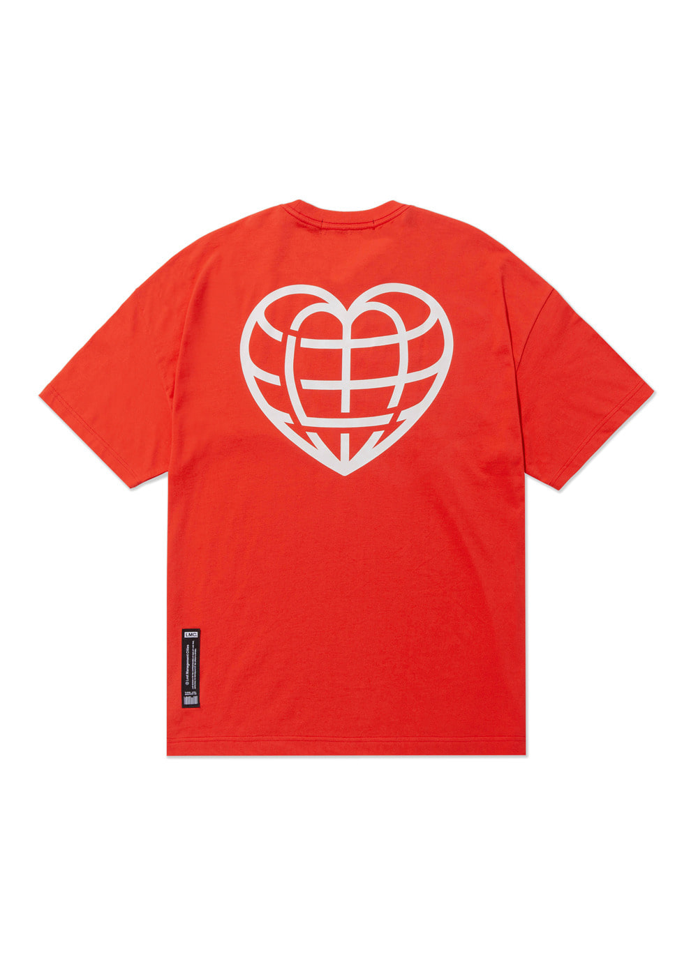 LMC HEART GLOBE OVERSIZED TEE red
