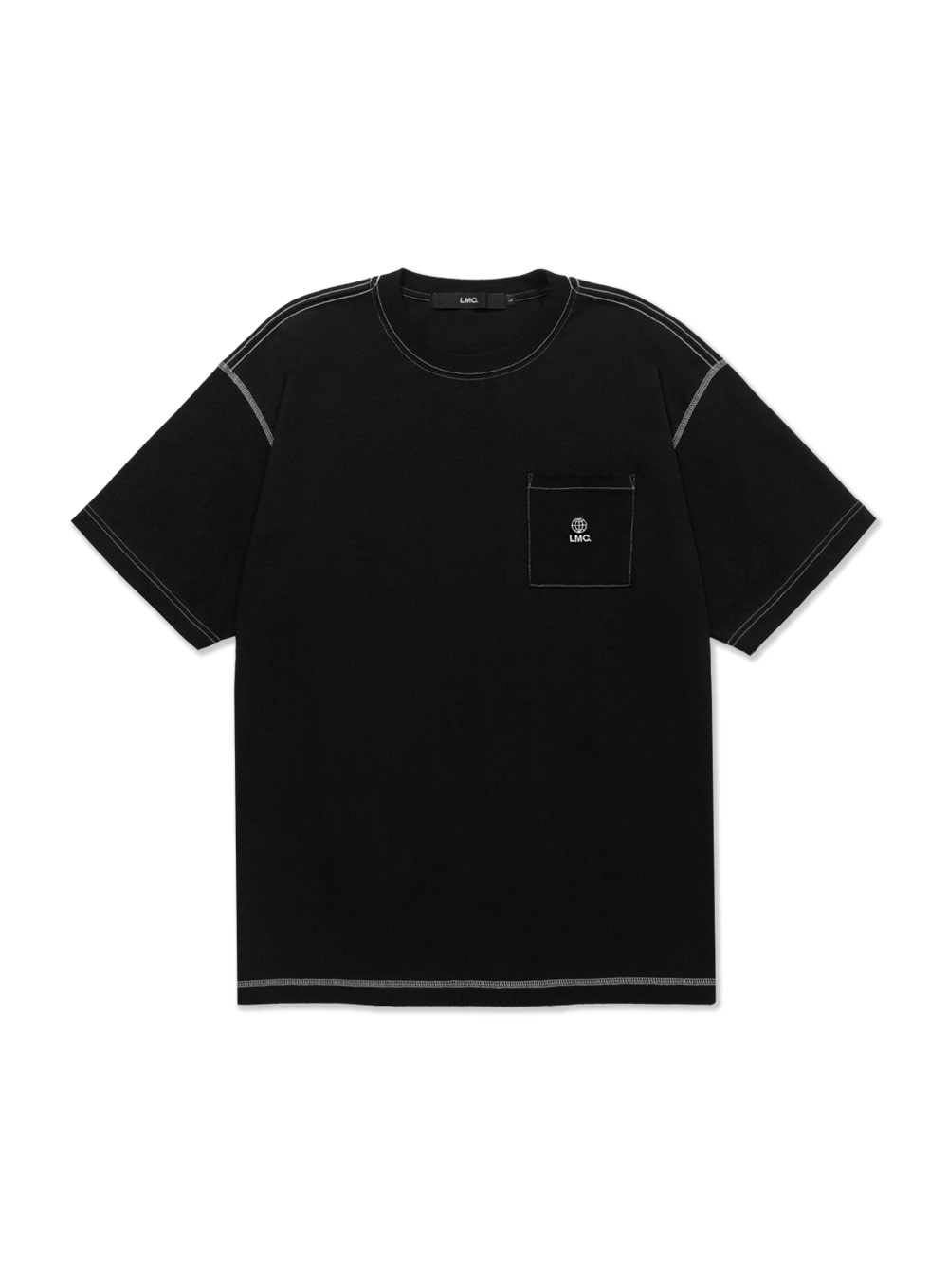 LMC CONTRAST STITCH POCKET TEE black