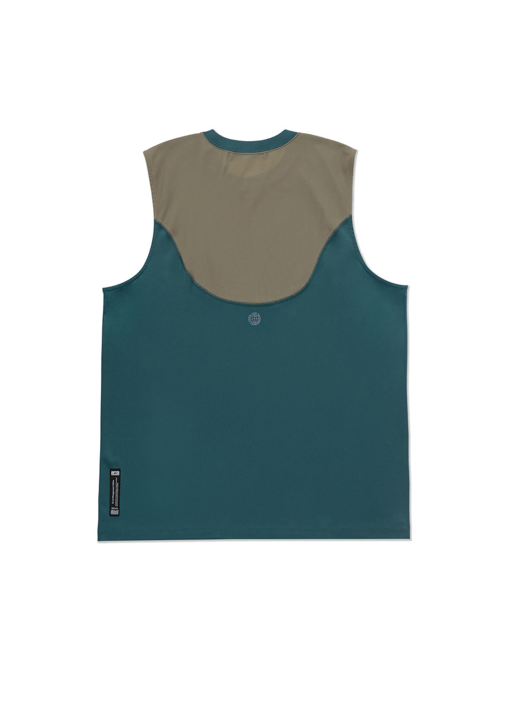 LMC CURVED LINE SLEEVELESS JERSEY teal