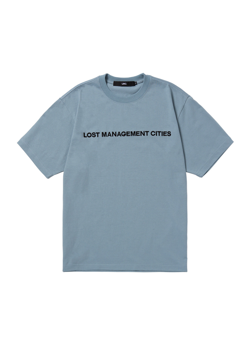 LMC CAPITAL FN EMB TEE sky blue