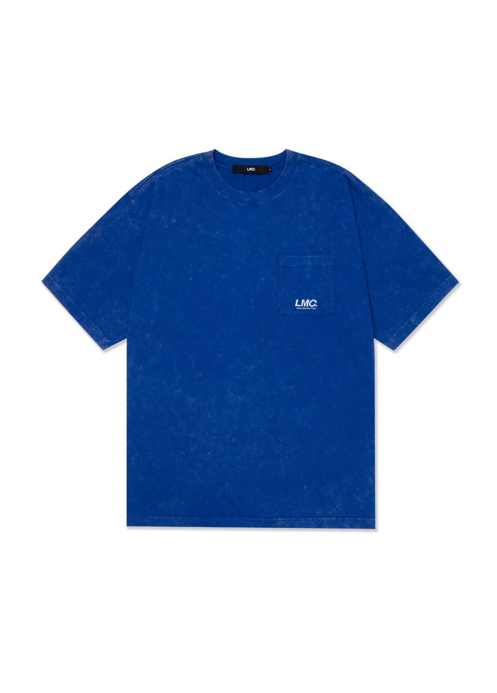 LMC ACID WASHED POCKET TEE royal blue