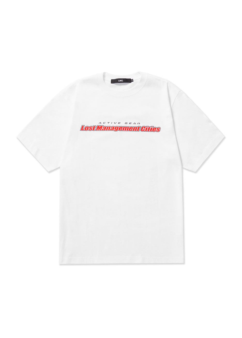 LMC 5th ANNIV RETRO VERTICAL GRADIENT TEE white