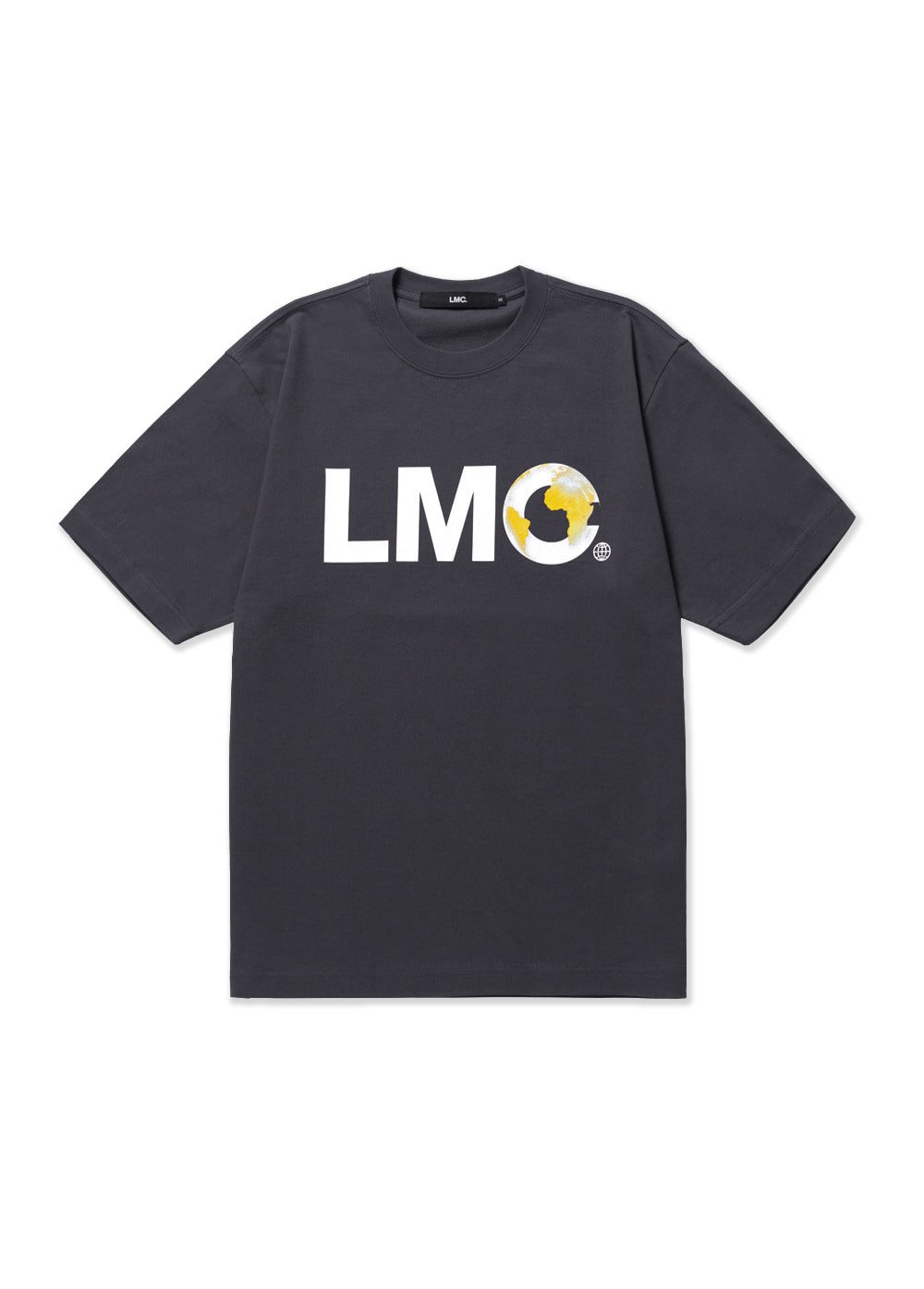 LMC EARTH LOGO TEE charcoal