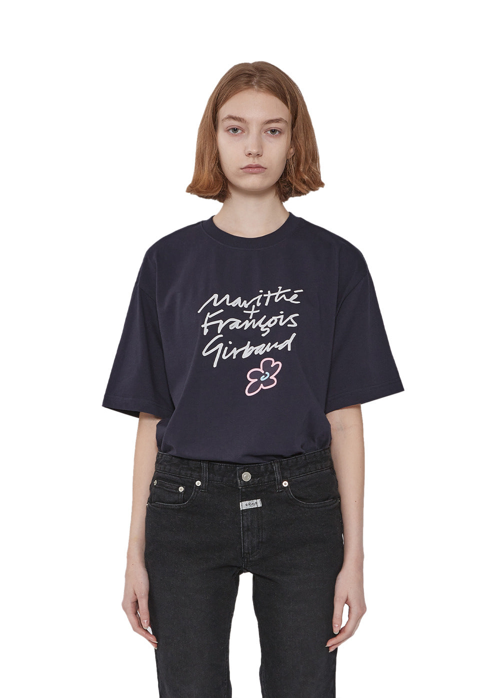 MFG HANDWRITTEN TEE navy