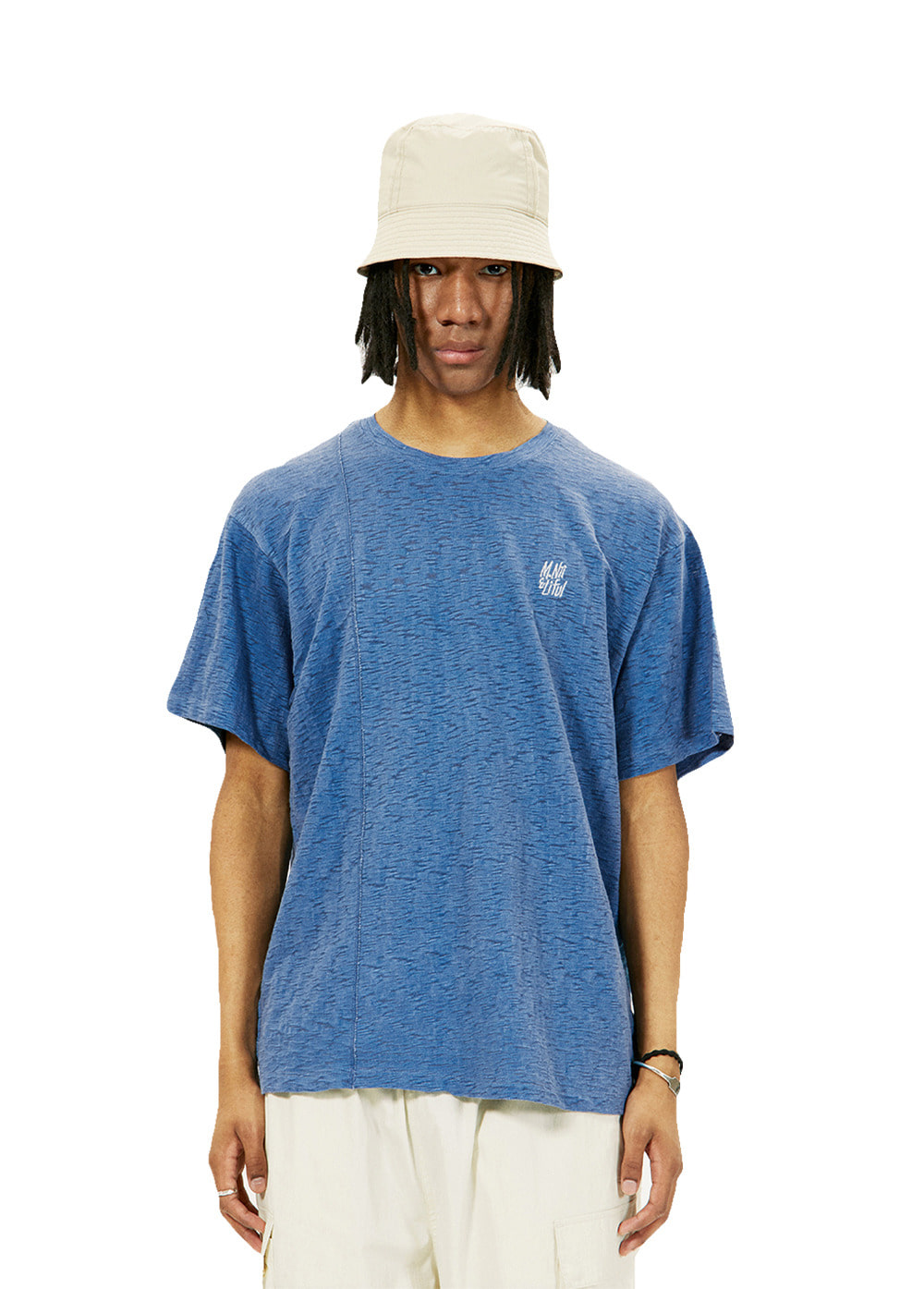 LIFUL X M.NII SEAM OUT TEE blue