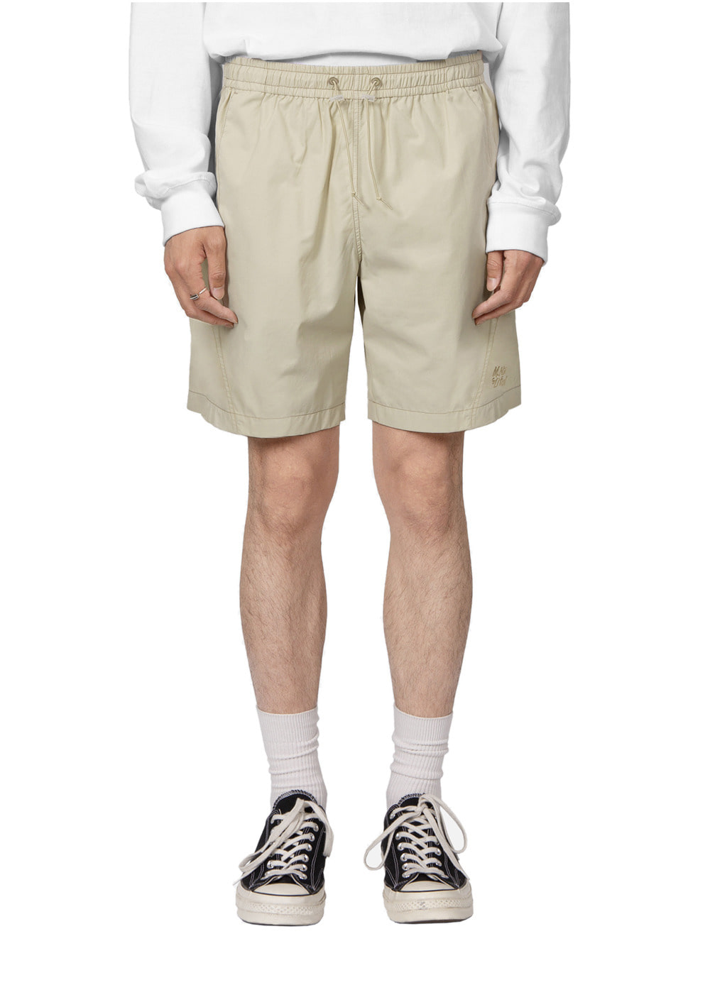 LIFUL X M.NII TWISTED EASY SHORTS beige