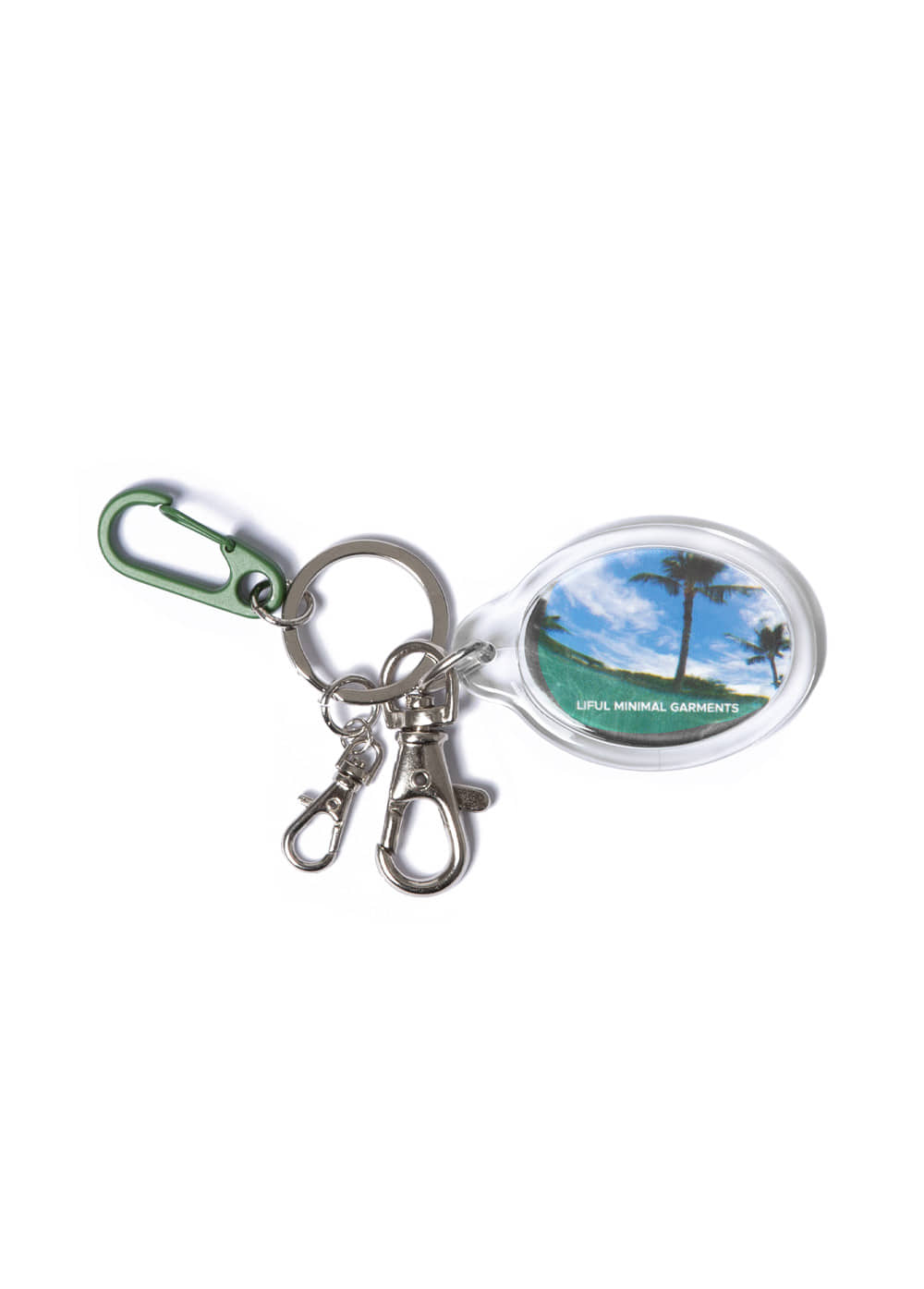 POOL KEYRING green