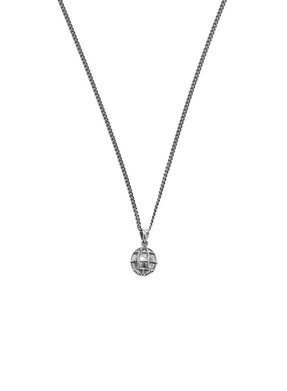 LMC GLOBE SILVER NECKLACE