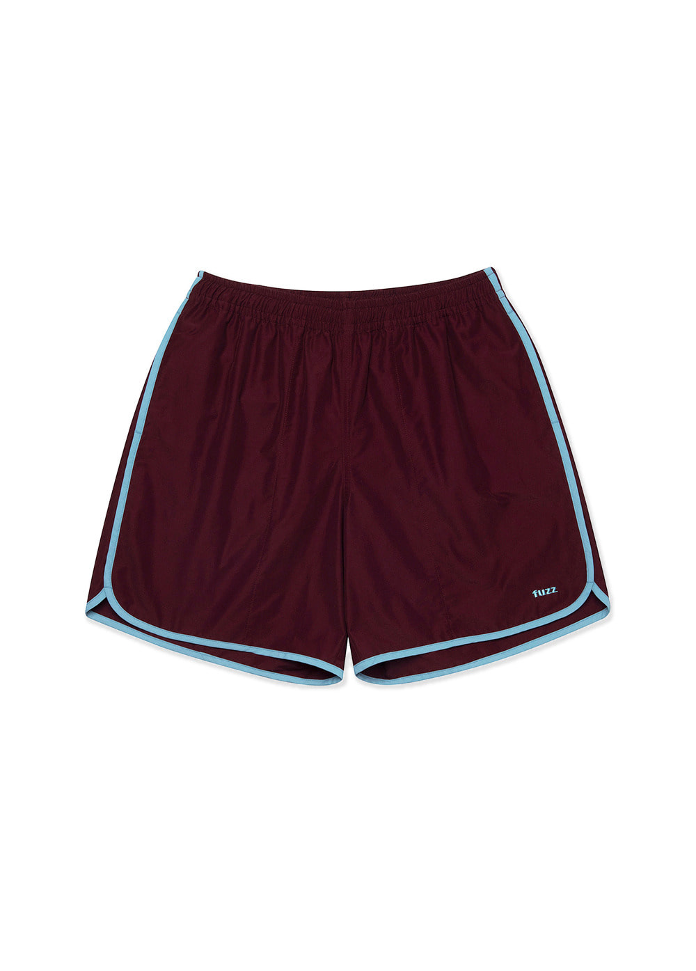 FUZZ LINE TAPE SHORTS burgundy