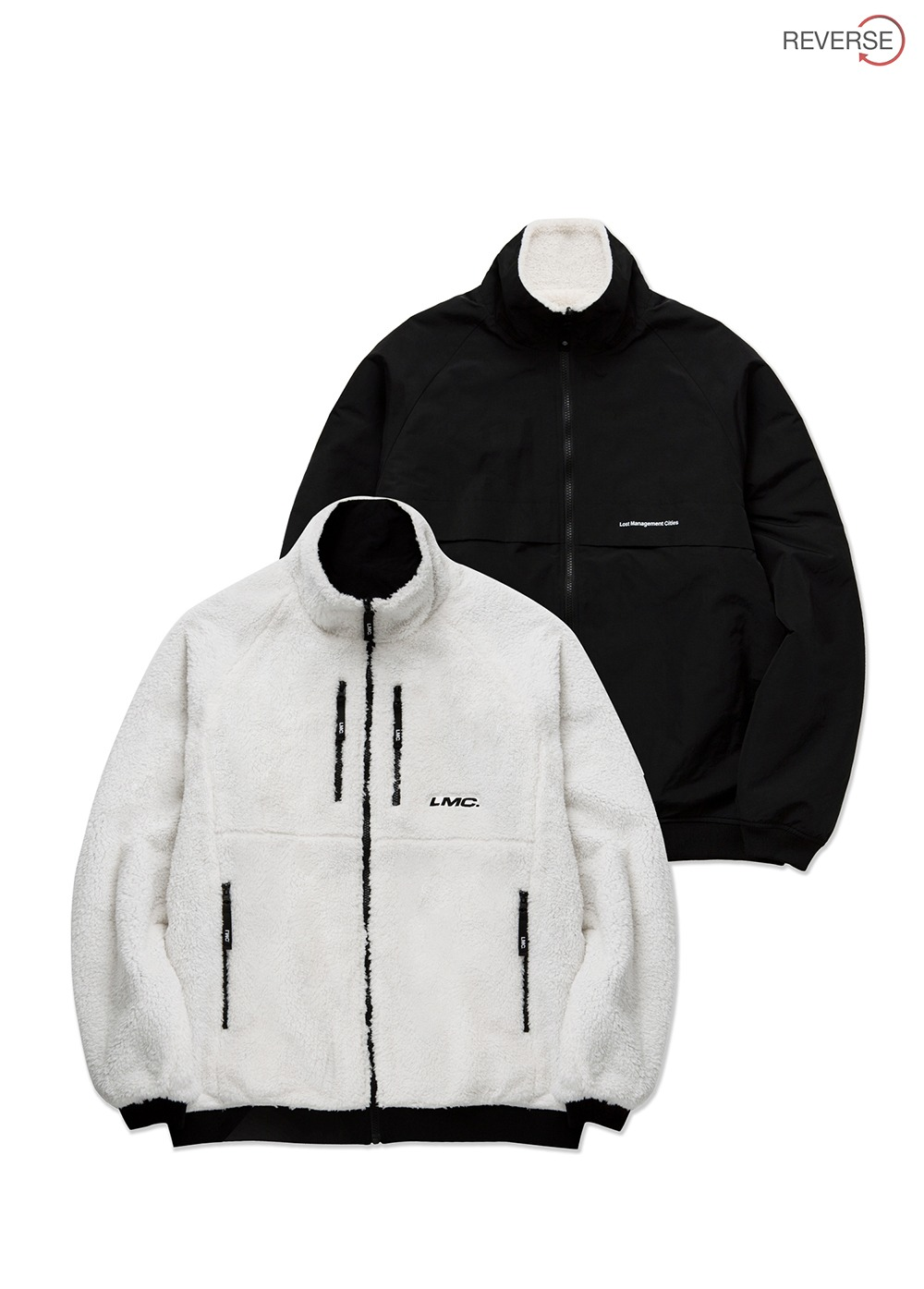 LMC FLEECE REVERSIBLE MP JACKET cream/black