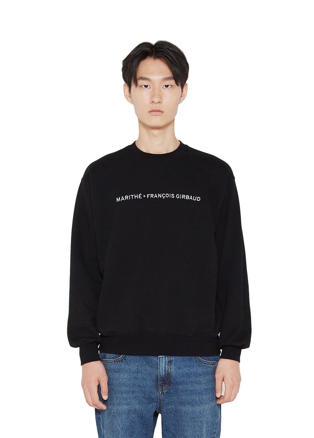 MFG FULL SIZE NAME LOGO SWEATSHIRT black