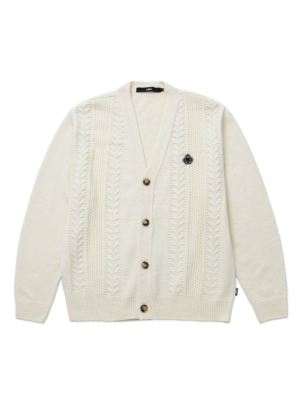 LMC CABLE CARDIGAN cream