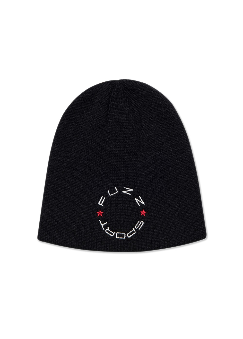 FUZZ CIRCLE LOGO BEANIE black