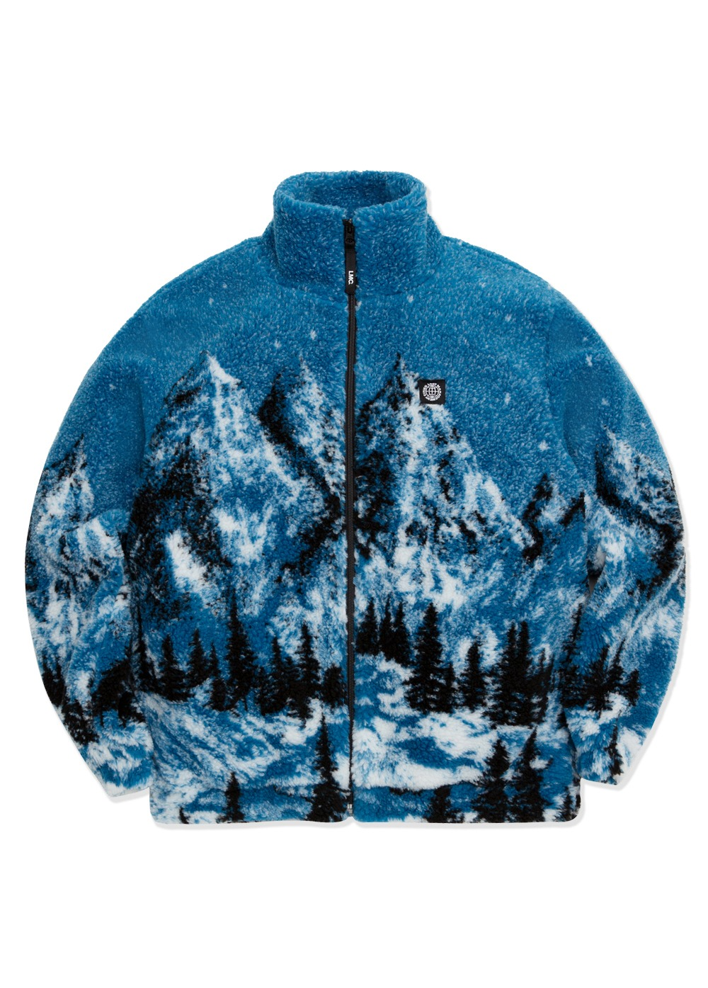 LMC SNOW VILLAGE FLEECE JACKET blue