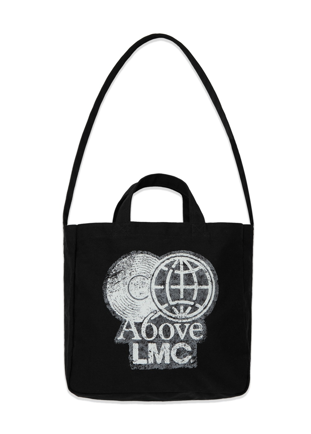 LMC X A6OVE FRIENDSHIP MIX CANVAS ECO BAG black