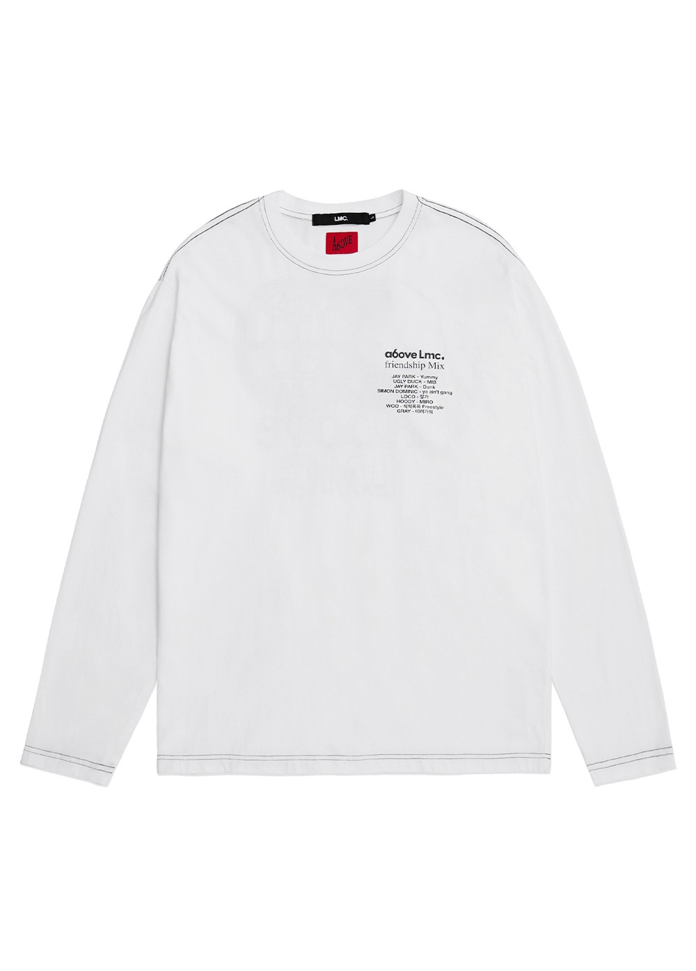 LMC X A6OVE FRIENDSHIP MIX LONG SLV TEE white