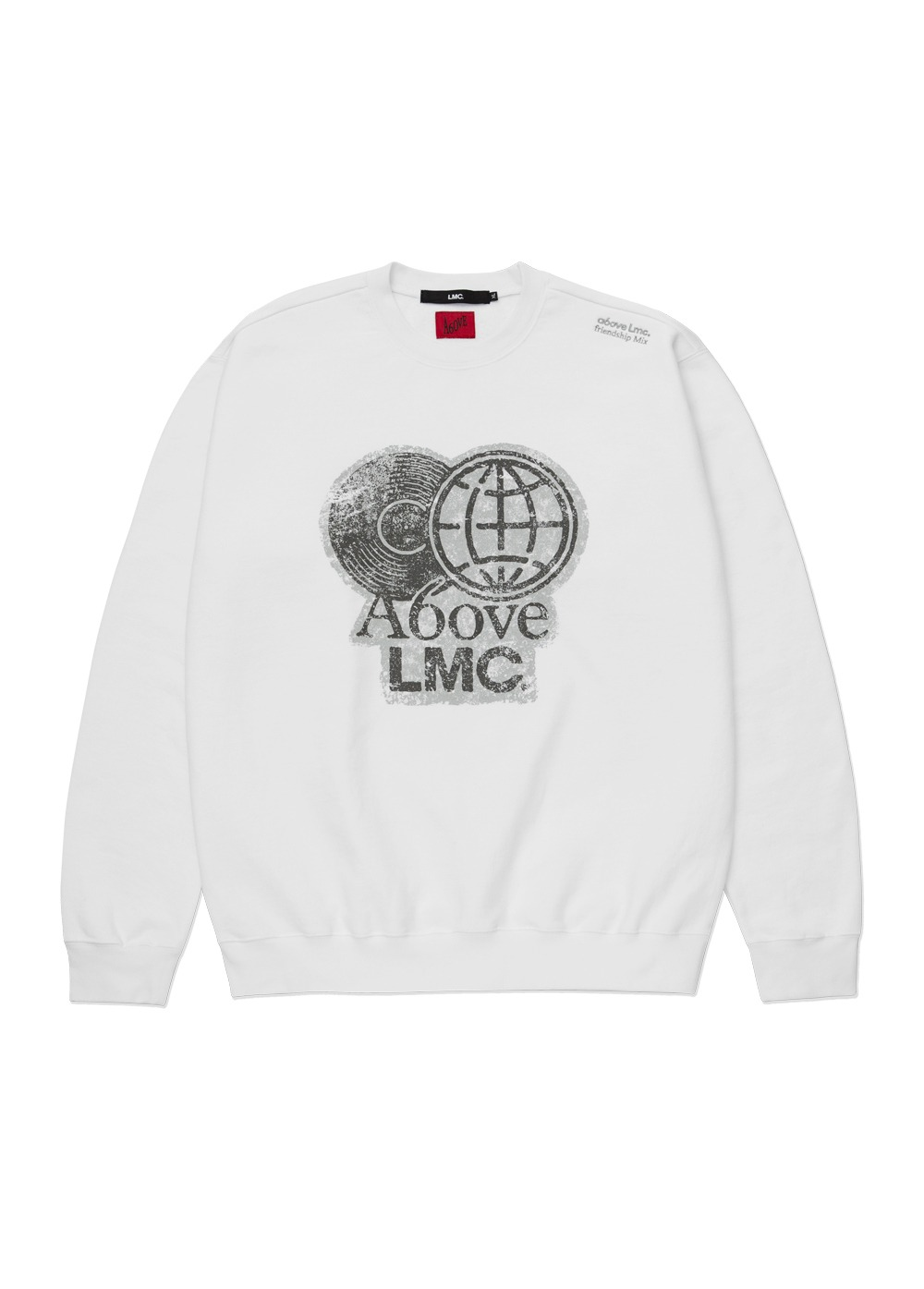 LMC X A6OVE FRIENDSHIP MIX SWEATSHIRT white