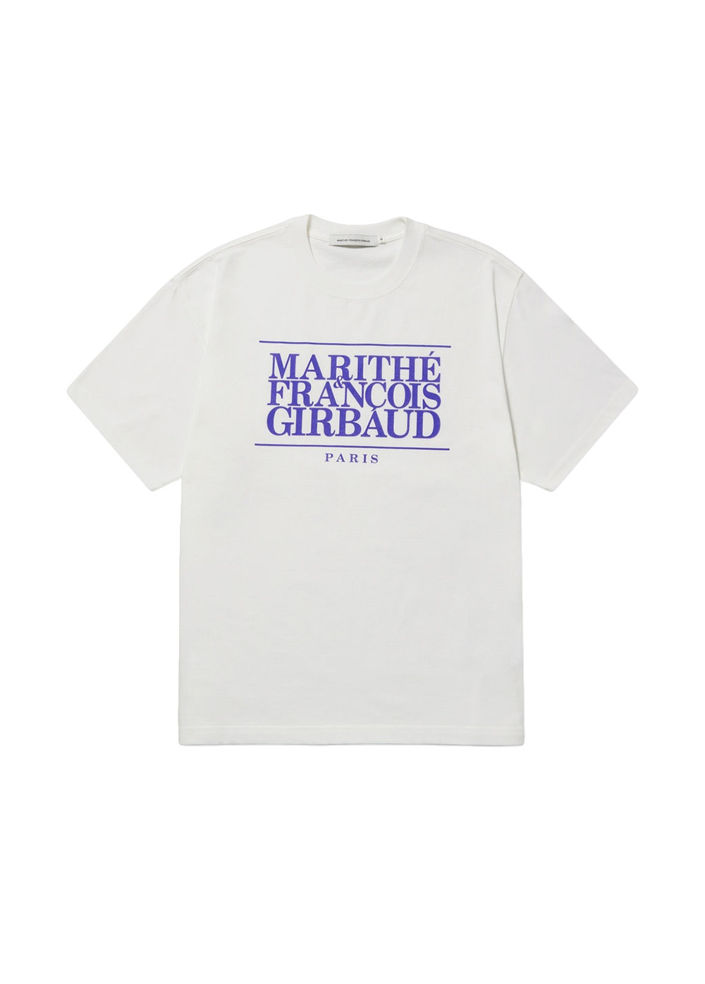MARITHE CLASSIC LOGO TEE off white/french blue