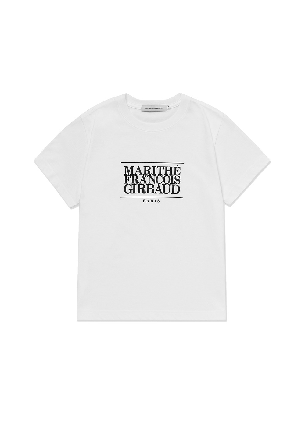 MARITHE W CLASSIC LOGO TEE off white