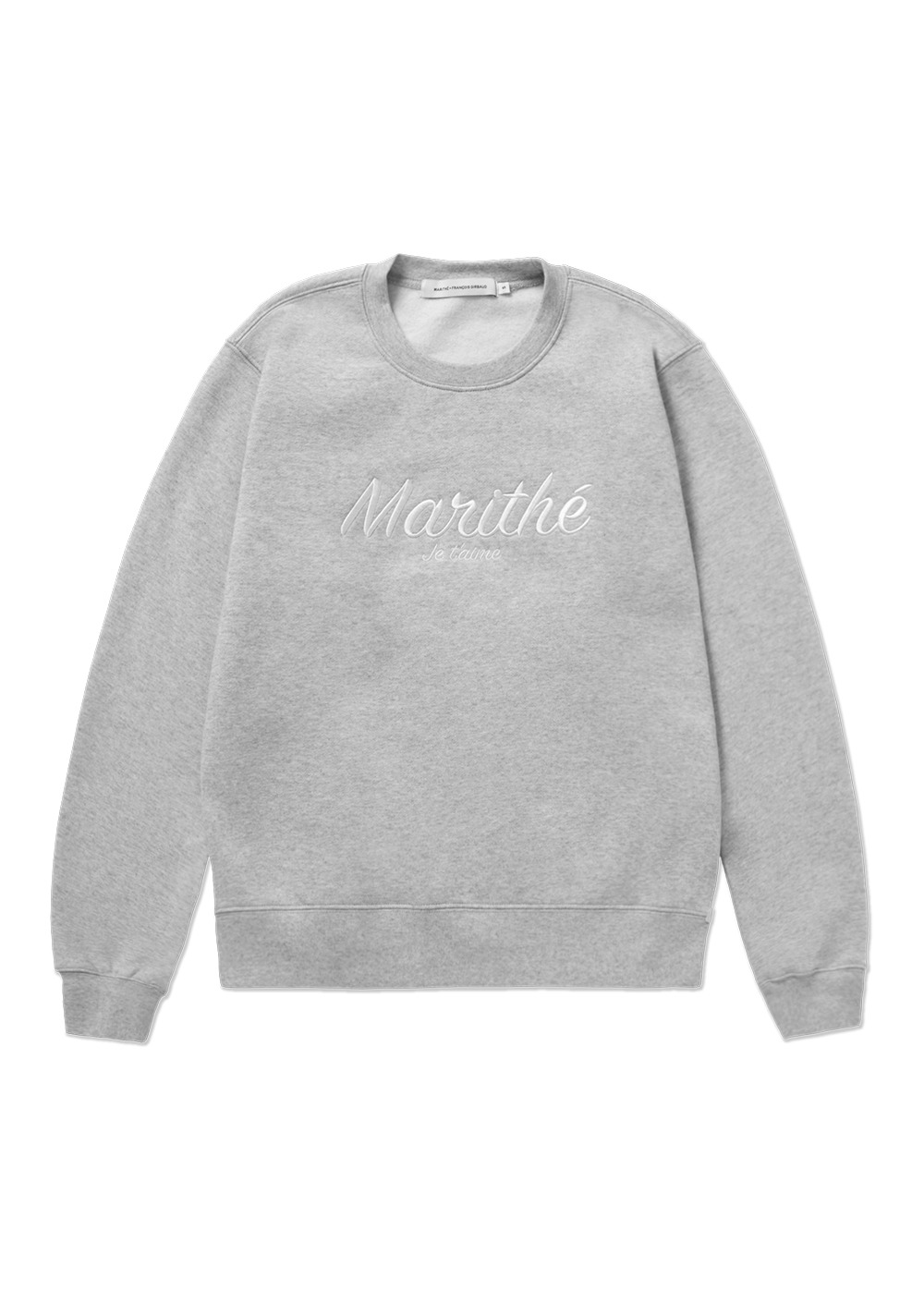 MARITHE MARITHE SWEATSHIRT heather gray