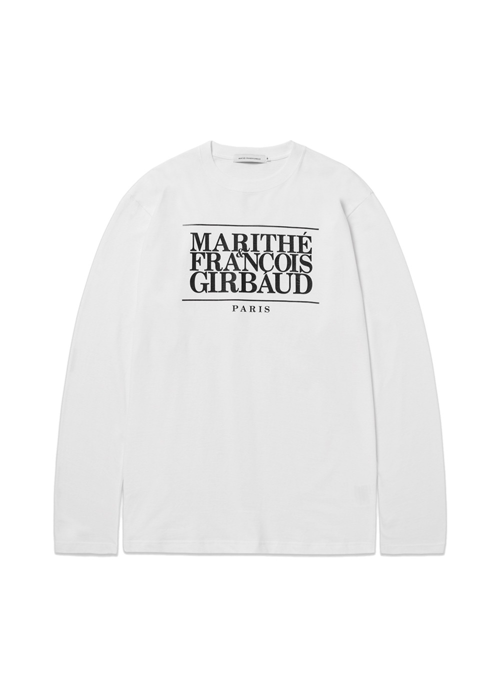 MARITHE CLASSIC LOGO L/S TEE off white