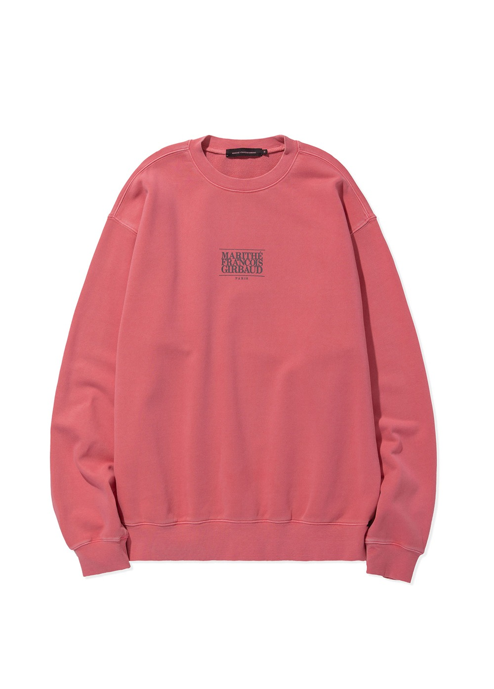 MARITHE SMALL CLASSIC LOGO SWEATSHIRT coral