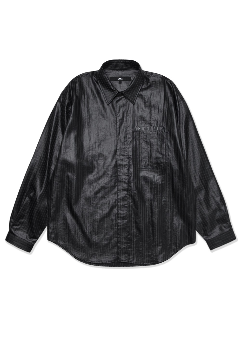 LMC COATED PS SNAP SHIRT black