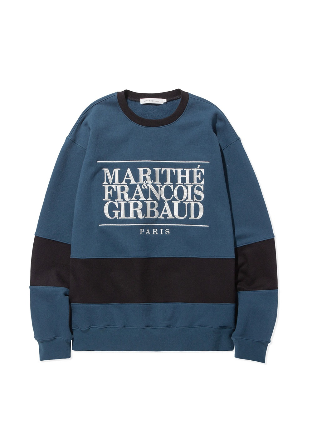 MARITHE TWO TONE SWEATSHIRT jade/black