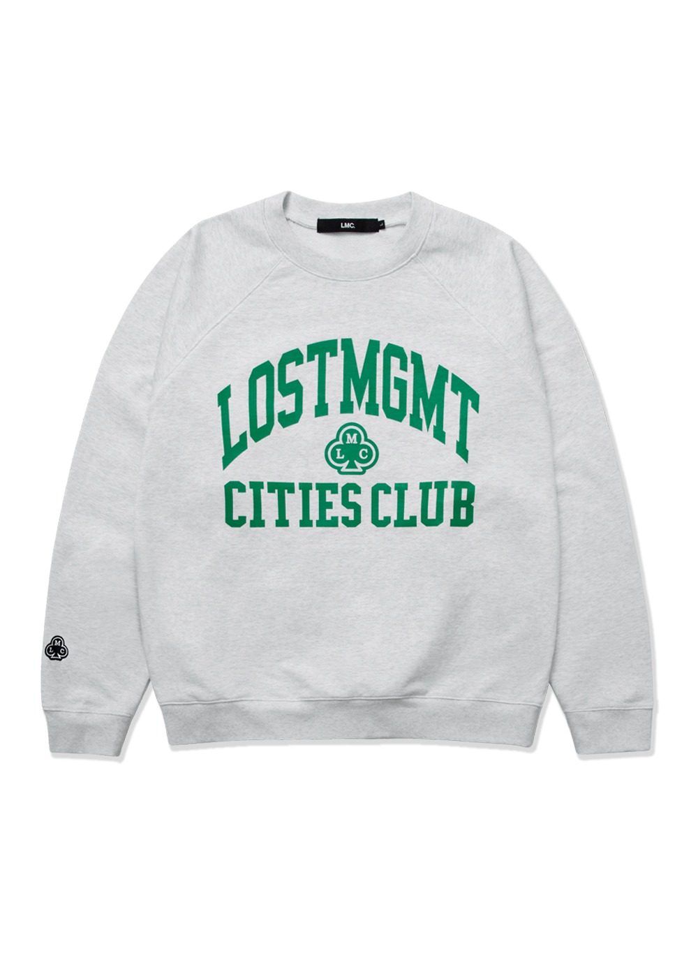 LMC CLUB ATHLETIC RAGLAN SWEATSHIRT lt. heather gray