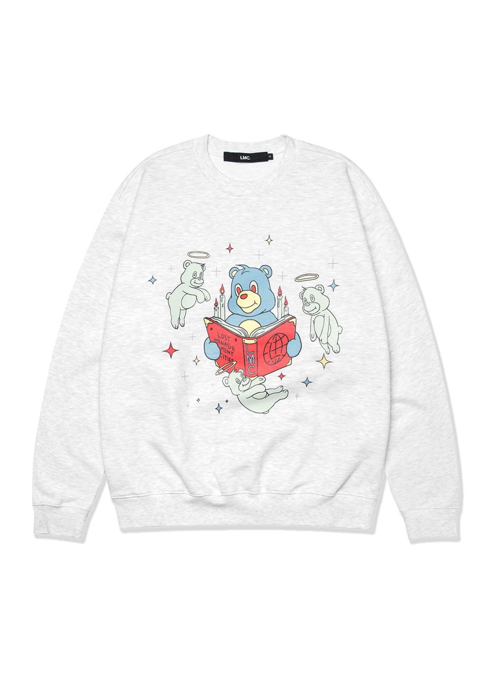 LMC REBIRTH BEAR SWEATSHIRT lt. heather gray