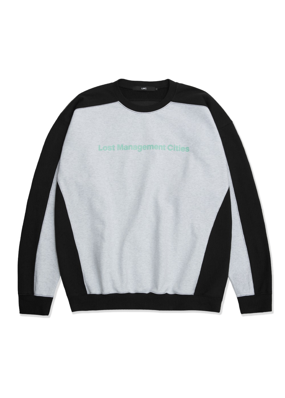 LMC TRI COLOR OVERSIZED SWEATSHIRT lt. heather gray