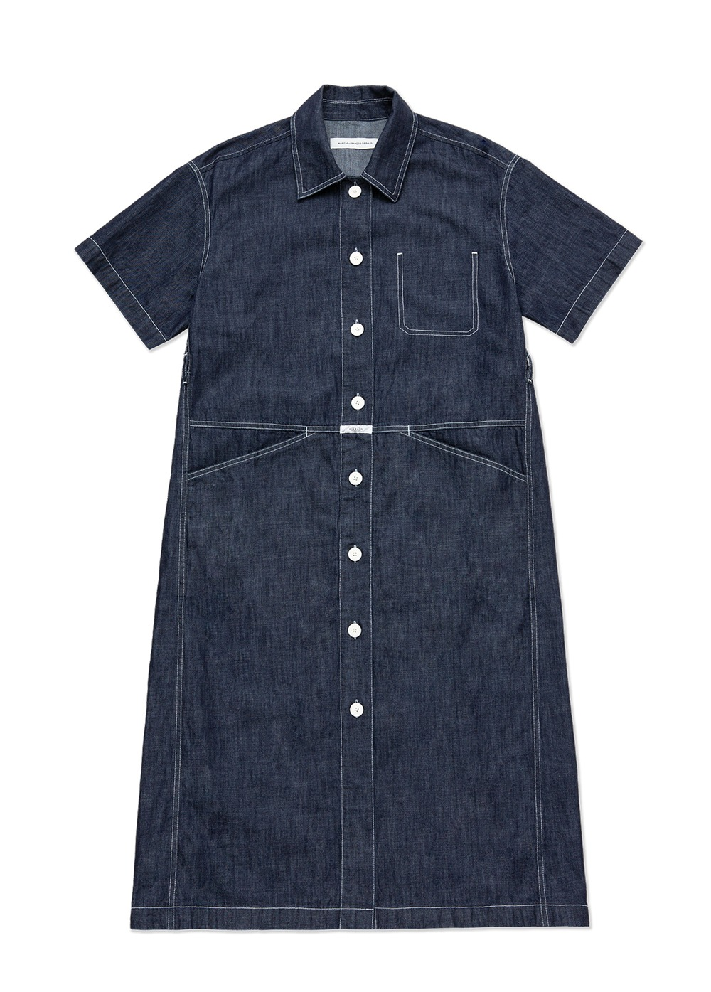MARITHE STANDARD X SHIRT DRESS indigo
