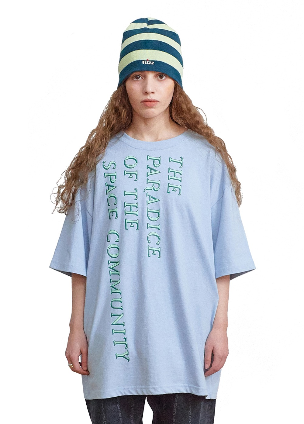 FUZZ INFORMATION CHAOS S/S TEE sky blue