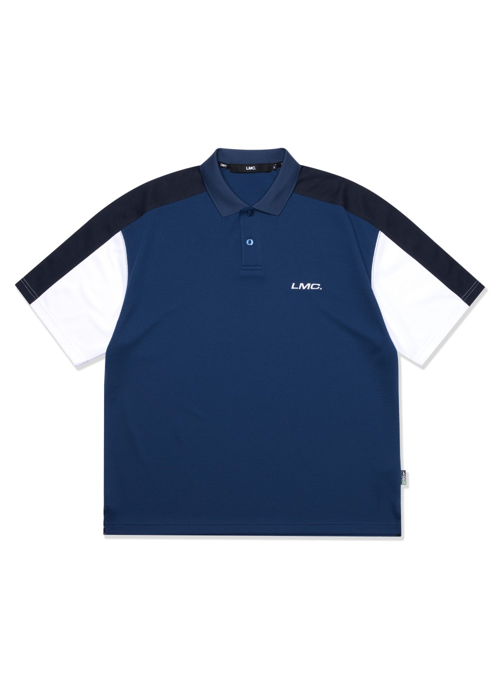 LMC ACTIVE GEAR MESH POLO SHIRT navy