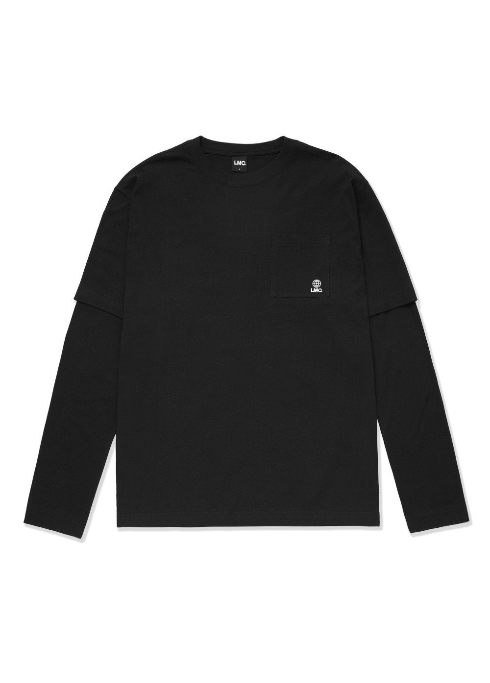 LMC WORKROOM LAYERED LONG SLV TEE black