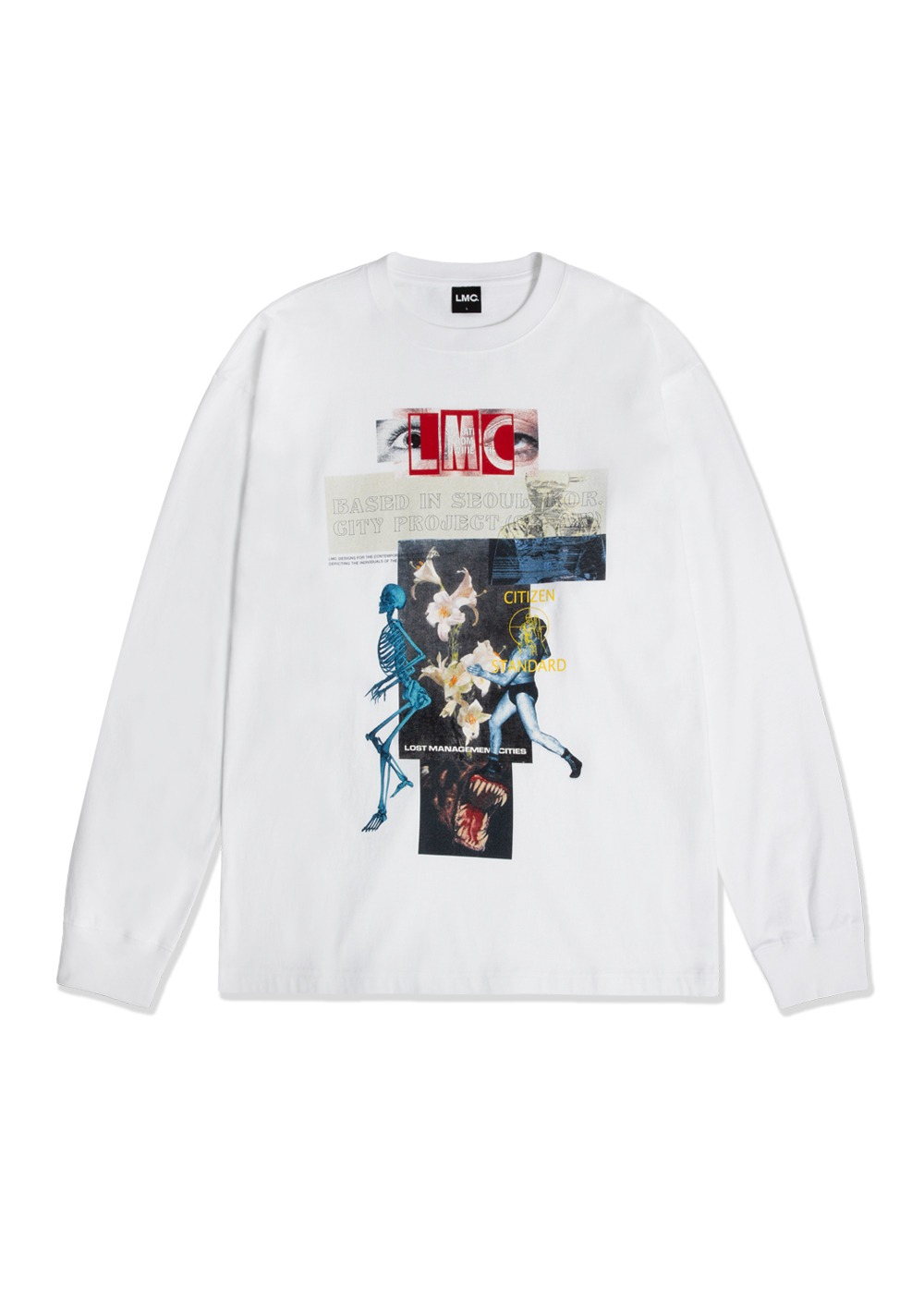 LMC ZT V2 LONG SLV TEE white