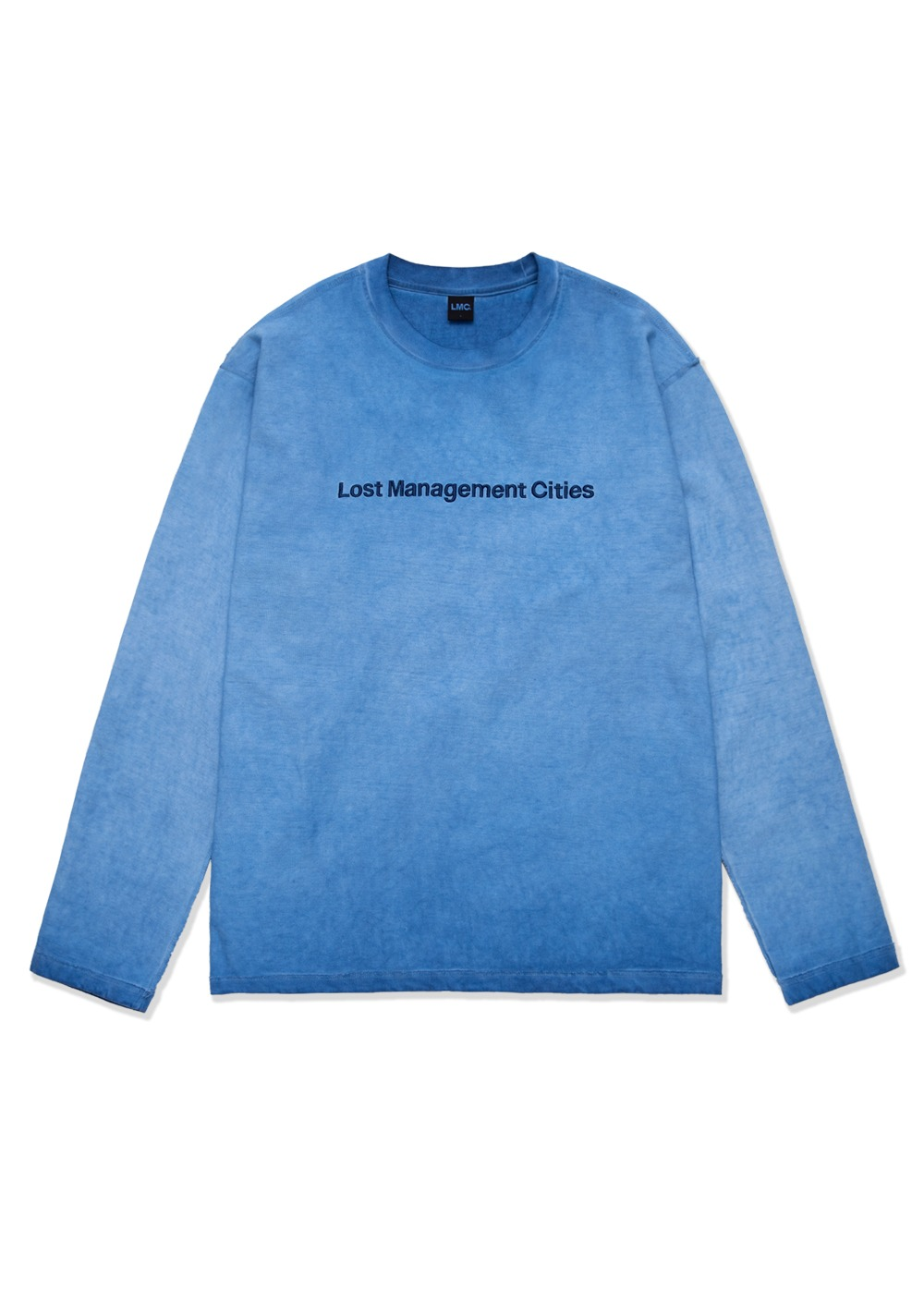 LMC OVERDYED TED FN LONG SLV TEE blue