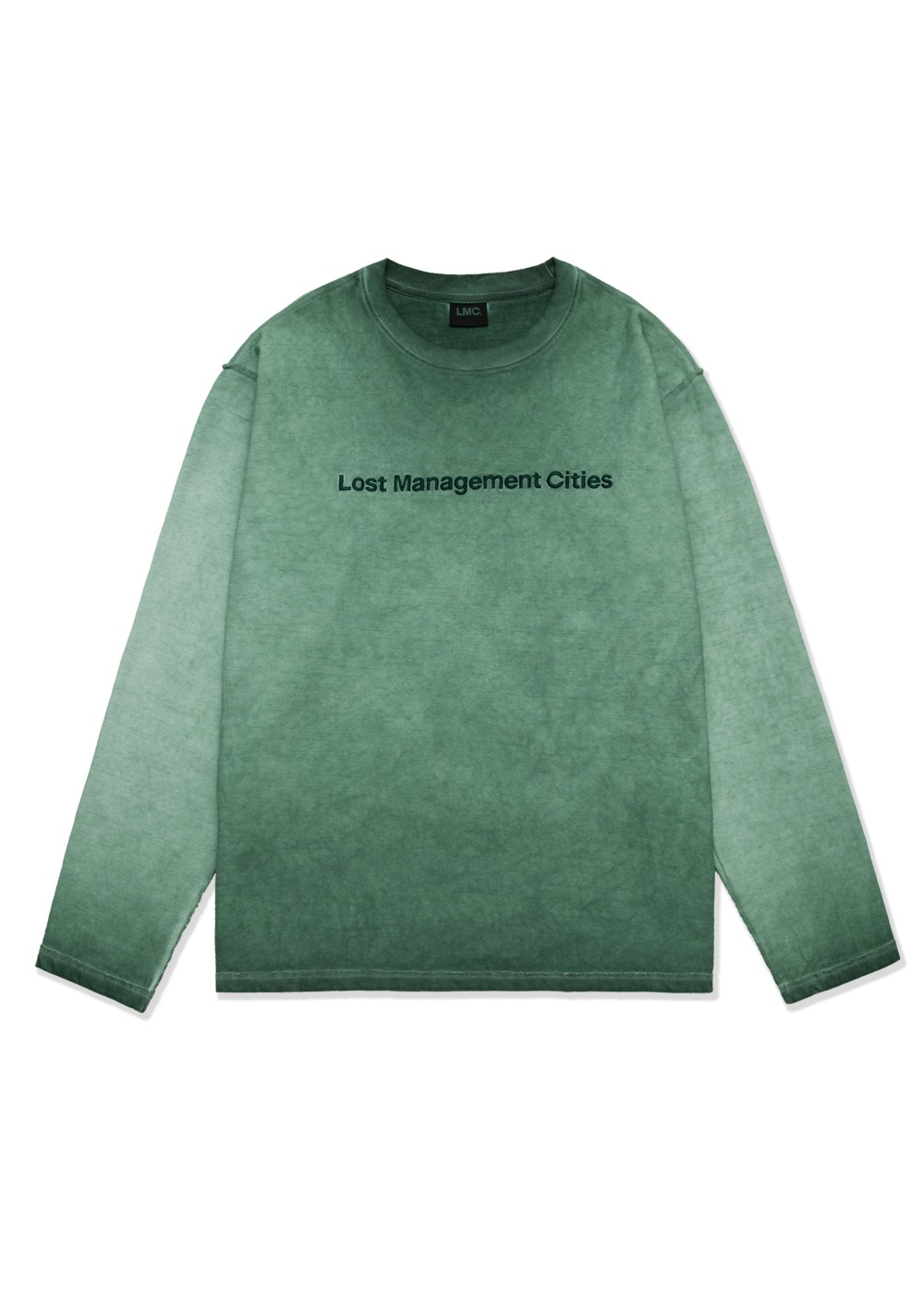LMC OVERDYED TED FN LONG SLV TEE green