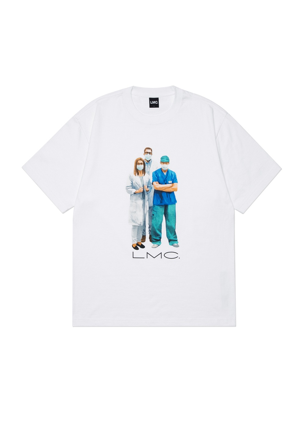 LMC MEDICAL WORKERS TEE white