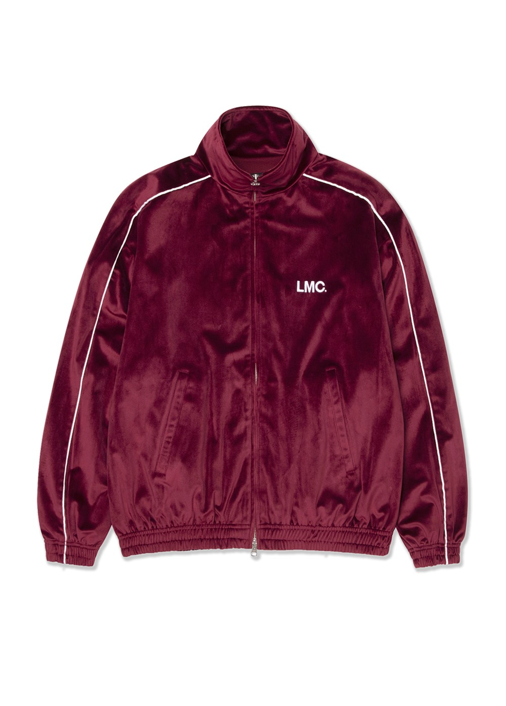 LMC VELOUR TRACK TOP burgundy