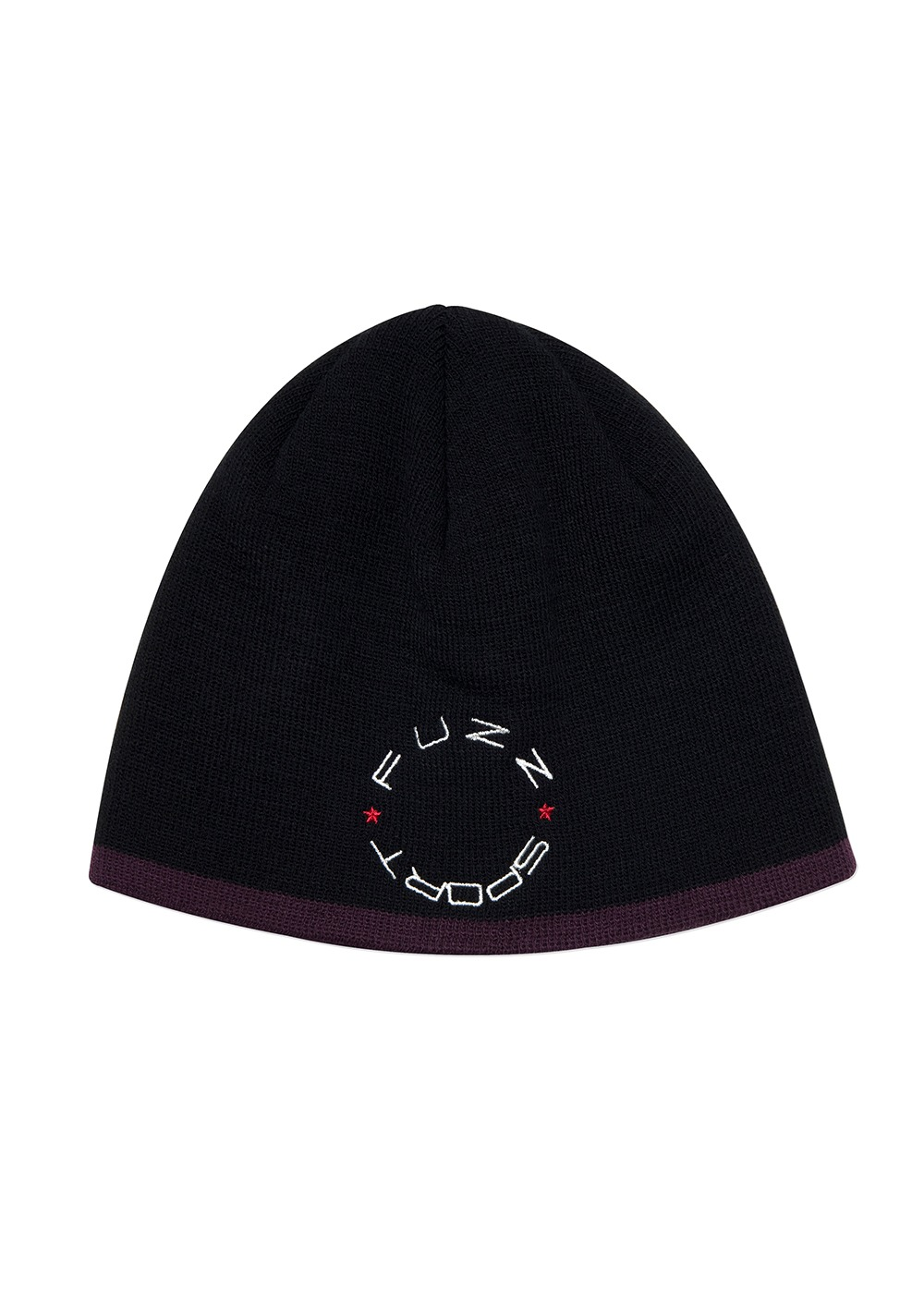 FUZZ UNDER LINE SHORT BEANIE black