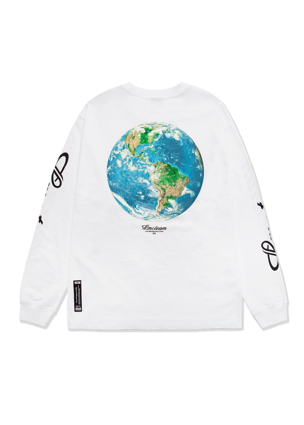 LMC TEAM EARTH LONG SLV TEE white