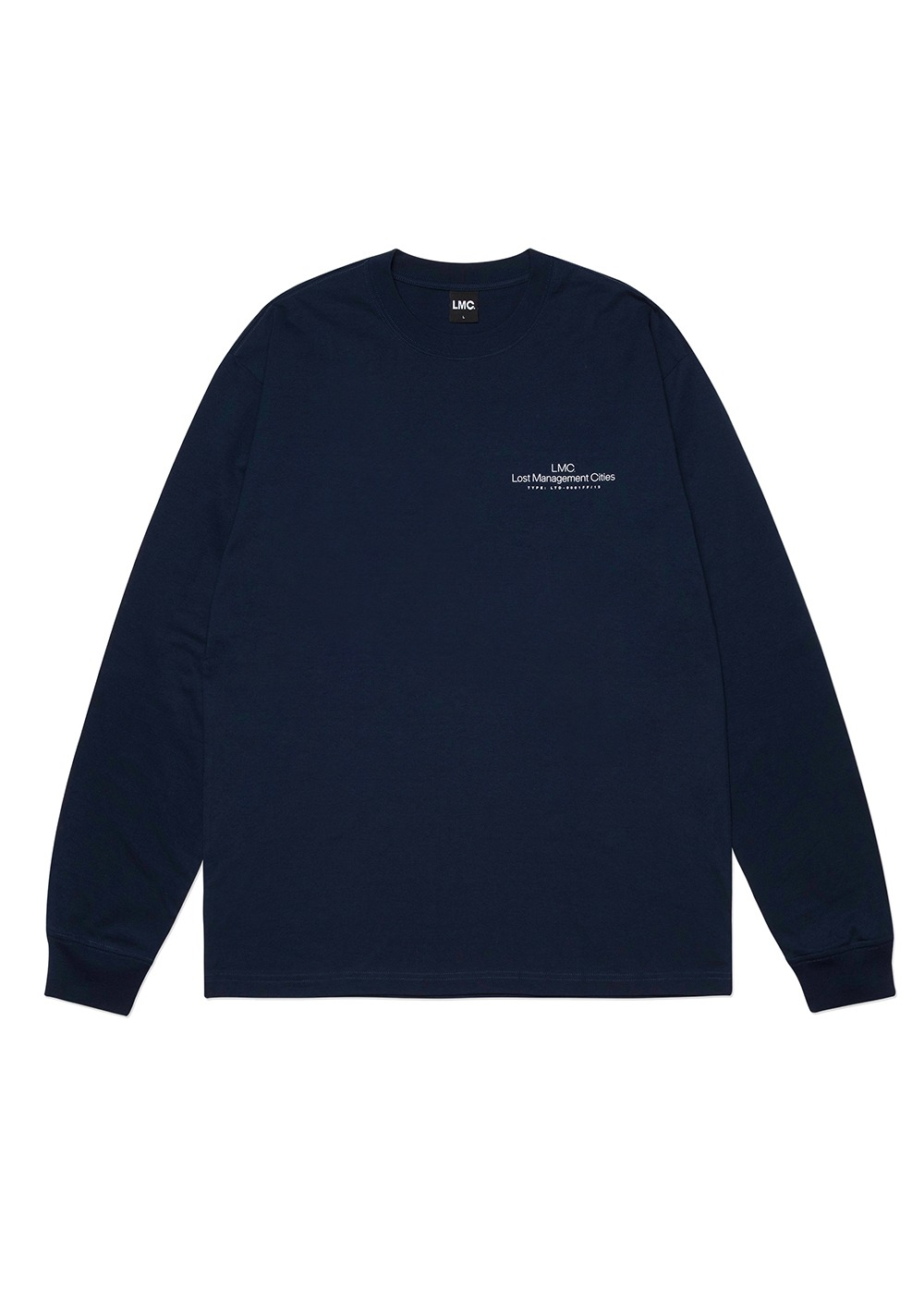 LMC THIN LOGO LONG SLV TEE navy