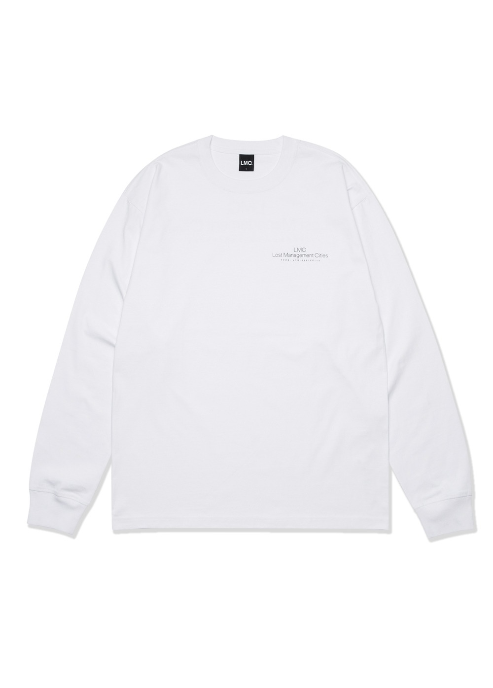 LMC THIN LOGO LONG SLV TEE white